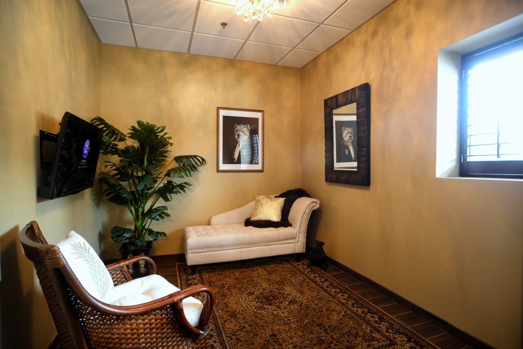 A suite at the Woofington