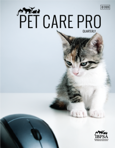 Cover of Pet Care Pro Quarterly with a kitten and a computer mouse.